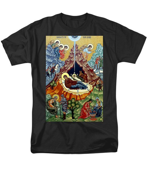 Orthodox Nativity Of Christ Men's T-Shirt  (Regular Fit) by Munir Alawi