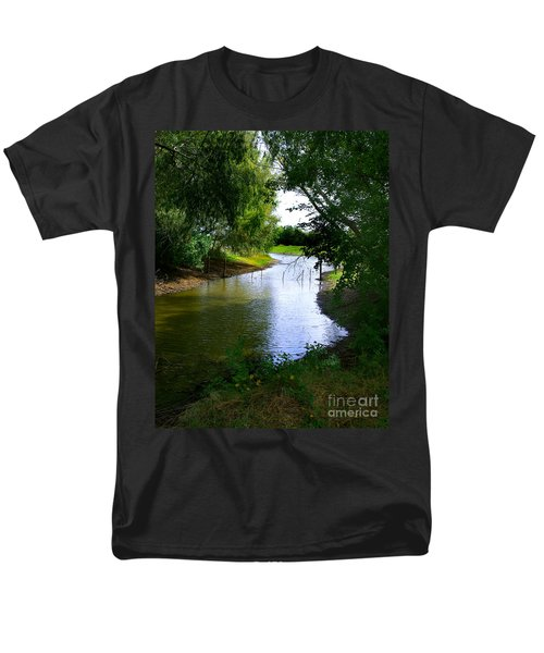 Our Fishing Hole Men's T-Shirt  (Regular Fit) by Peter Piatt