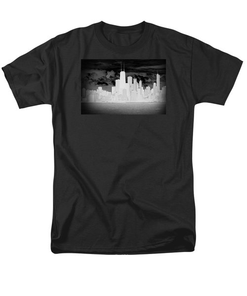 Men's T-Shirt  (Regular Fit) featuring the photograph Outline Of Chicago by Milena Ilieva