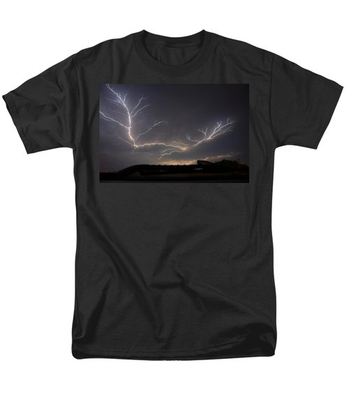 Men's T-Shirt  (Regular Fit) featuring the photograph Over The Lake by Charlotte Schafer