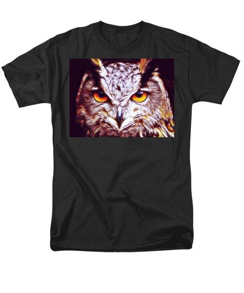 Men's T-Shirt  (Regular Fit) featuring the digital art Owl - Fractal by Lilia D