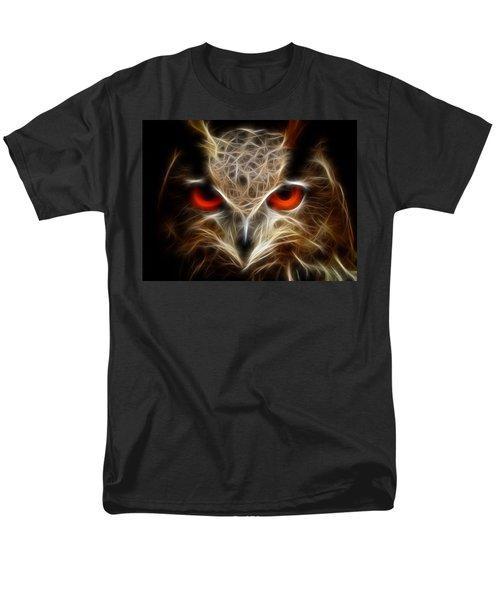 Men's T-Shirt  (Regular Fit) featuring the digital art Owl - Fractal Artwork by Lilia D