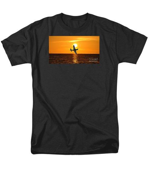 P-51 Sunset Men's T-Shirt  (Regular Fit) by John Black