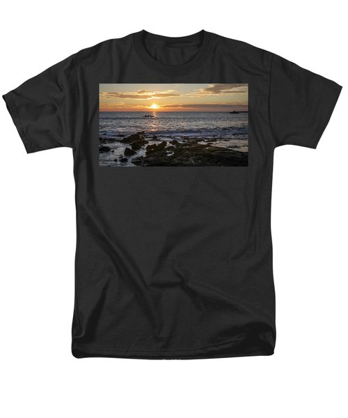 Paddlers At Sunset Horizontal Men's T-Shirt  (Regular Fit) by Denise Bird