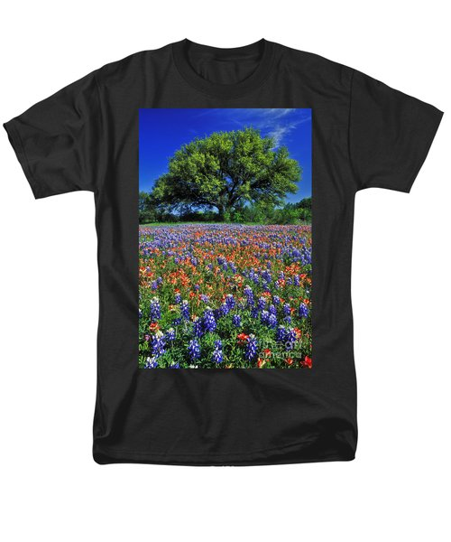 Paintbrush And Bluebonnets - Fs000057 Men's T-Shirt  (Regular Fit) by Daniel Dempster