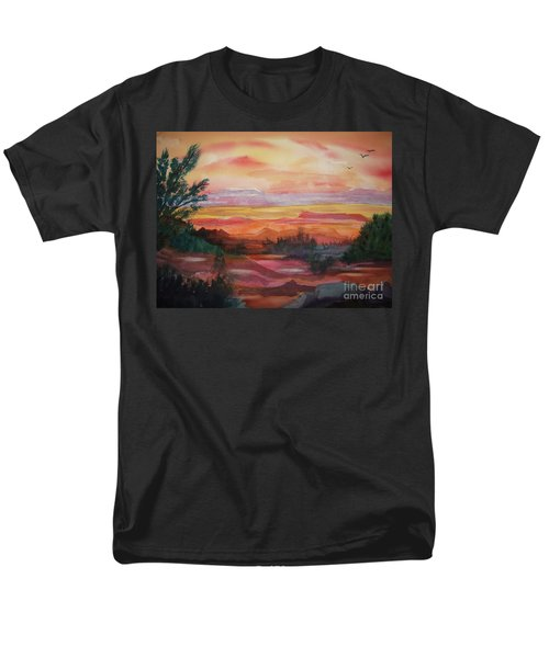 Painted Desert II Men's T-Shirt  (Regular Fit) by Ellen Levinson