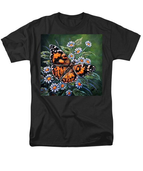 Painted Lady Men's T-Shirt  (Regular Fit) by Gail Butler
