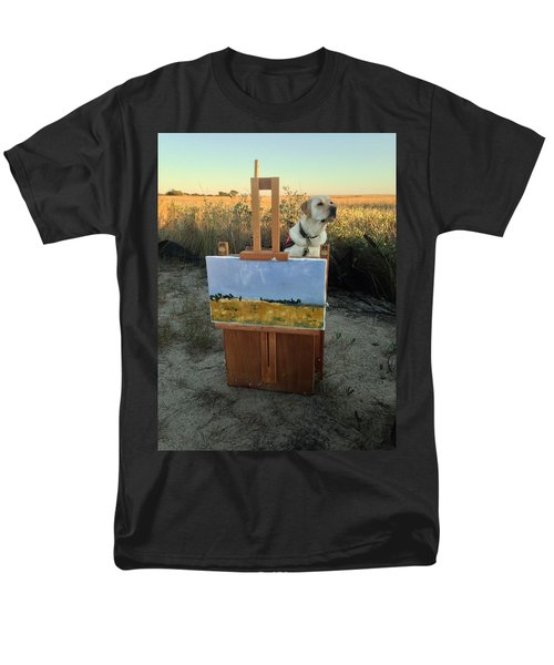 Painterly Lab Men's T-Shirt  (Regular Fit) by Mary Ward