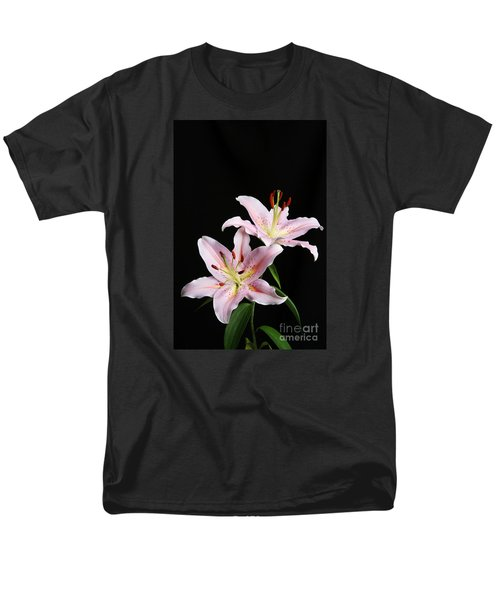 Pale Pink Asiatic Lilies Men's T-Shirt  (Regular Fit) by Judy Whitton