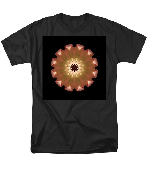 Pale Pink Tulip Flower Mandala Men's T-Shirt  (Regular Fit)