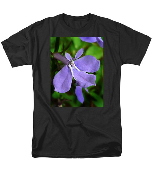 Men's T-Shirt  (Regular Fit) featuring the photograph Wild Palespike Lobelia by William Tanneberger