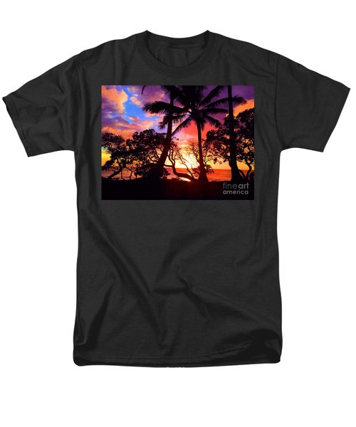 Men's T-Shirt  (Regular Fit) featuring the photograph Palm Tree Silhouette by Kristine Merc