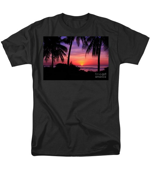 Palm Tree Sunset In Paradise Men's T-Shirt  (Regular Fit) by Scott Cameron