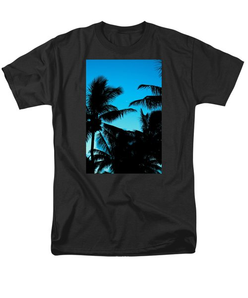 Palms At Dusk With Sliver Of Moon Men's T-Shirt  (Regular Fit) by Lehua Pekelo-Stearns
