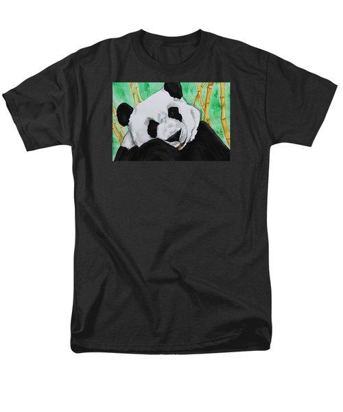 Panda Men's T-Shirt  (Regular Fit) by Patricia Olson