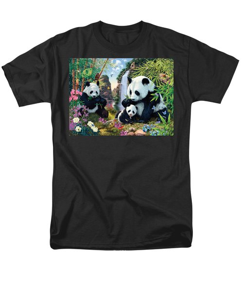 Panda Valley Men's T-Shirt  (Regular Fit) by Steve Read