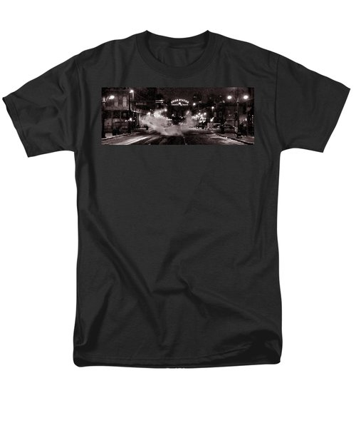 Panorama Of Denver Union Station During Snow Storm Men's T-Shirt  (Regular Fit) by Ken Smith