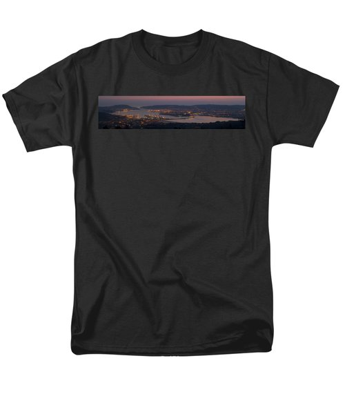 Men's T-Shirt  (Regular Fit) featuring the photograph Panorama Of Ferrol From Mount Marraxon Galicia Spain by Pablo Avanzini