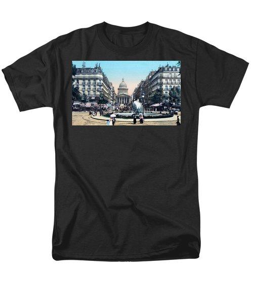 Paris 1910 Rue Soufflot And Pantheon Men's T-Shirt  (Regular Fit) by Ira Shander