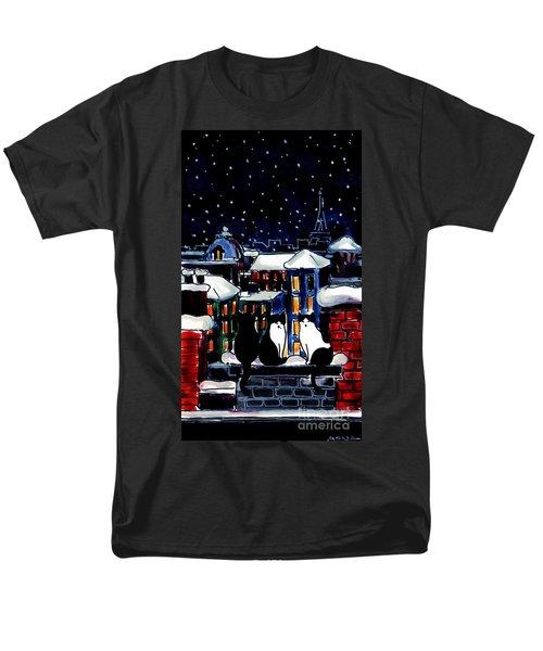 Paris Cats Men's T-Shirt  (Regular Fit)