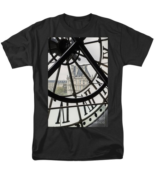 Paris Clock Men's T-Shirt  (Regular Fit) by Brian Jannsen