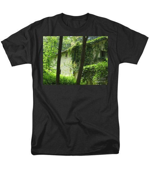 Paris - Green House Men's T-Shirt  (Regular Fit) by HEVi FineArt