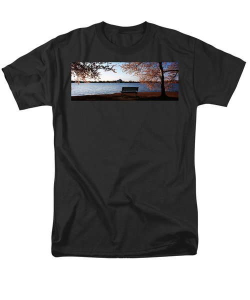 Park Bench With A Memorial Men's T-Shirt  (Regular Fit) by Panoramic Images