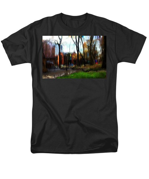 Men's T-Shirt  (Regular Fit) featuring the mixed media Park Block I by Terence Morrissey