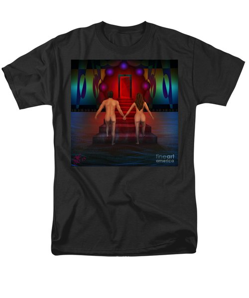 Men's T-Shirt  (Regular Fit) featuring the digital art Passion Ascending by Rosa Cobos
