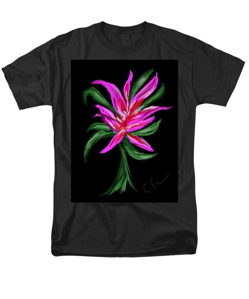 Men's T-Shirt  (Regular Fit) featuring the digital art Passion Flower by Christine Fournier