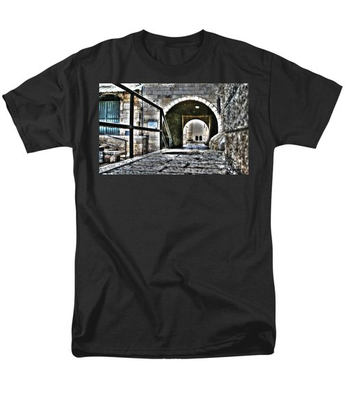 Men's T-Shirt  (Regular Fit) featuring the photograph Pathway Through Old Jerusalem by Doc Braham