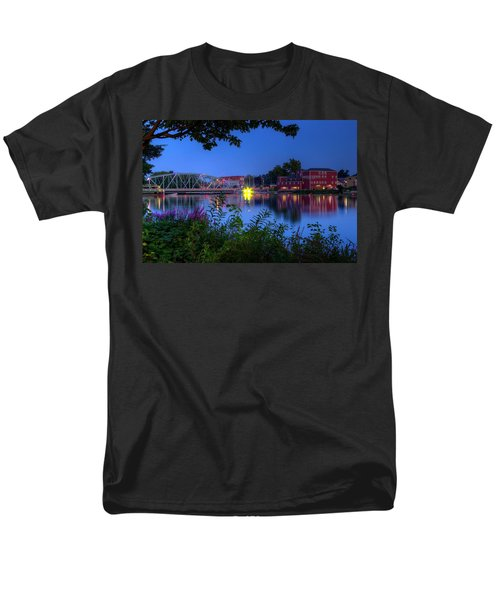 Peaceful River Men's T-Shirt  (Regular Fit) by Dave Files