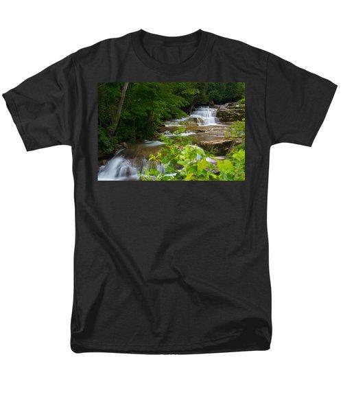 Peaceful Stockbridge Falls  Men's T-Shirt  (Regular Fit) by Dave Files
