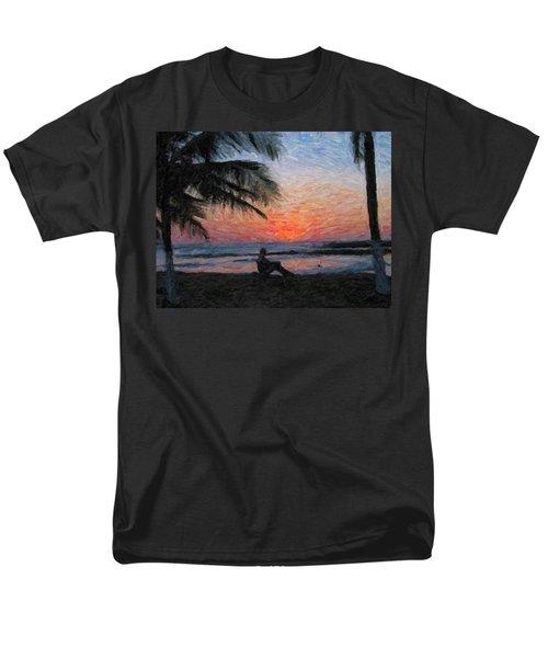 Peaceful Sunset Men's T-Shirt  (Regular Fit) by David Gleeson