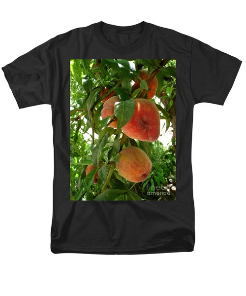 Men's T-Shirt  (Regular Fit) featuring the photograph Peaches On The Tree by Kerri Mortenson