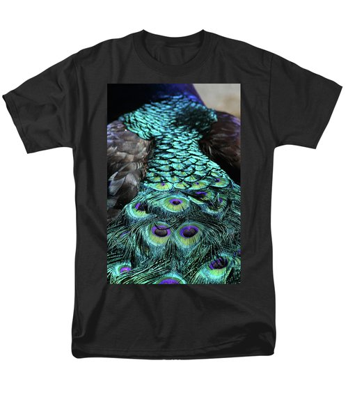 Peacock Trail Men's T-Shirt  (Regular Fit) by Karol Livote