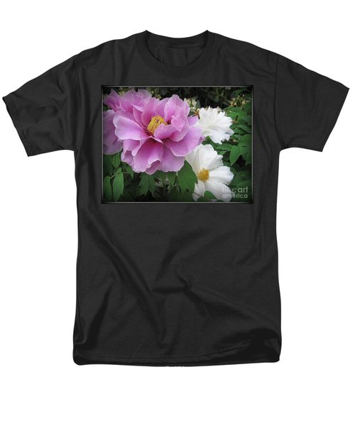 Peonies In White And Lavender Men's T-Shirt  (Regular Fit) by Dora Sofia Caputo Photographic Art and Design