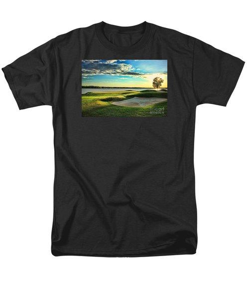 Perfect Golf Sunset Men's T-Shirt  (Regular Fit) by Reid Callaway
