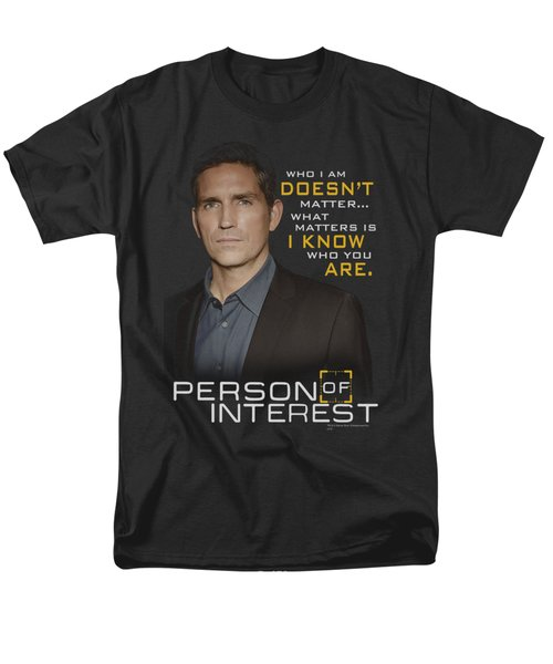 Person Of Interest - I Know Men's T-Shirt  (Regular Fit) by Brand A