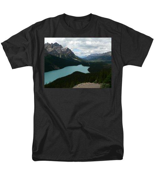 Men's T-Shirt  (Regular Fit) featuring the photograph Peyote Lake In Banff Alberta by Laurel Best