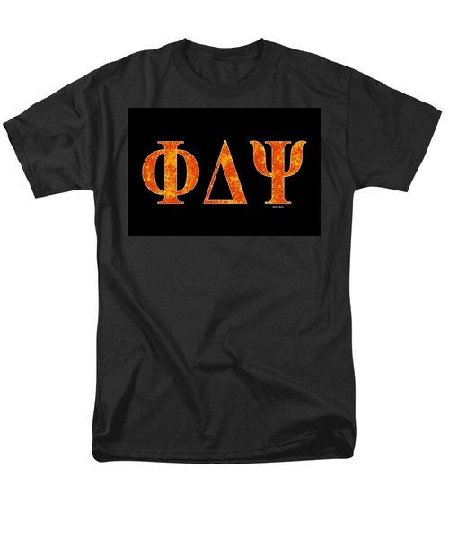 Phi Delta Psi - Black Men's T-Shirt  (Regular Fit) by Stephen Younts