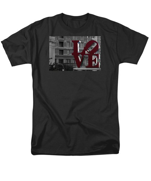 Philadelphia Love Men's T-Shirt  (Regular Fit) by Terry DeLuco