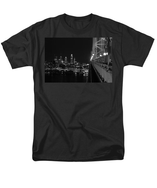 Philadelphia Night B/w Men's T-Shirt  (Regular Fit) by Jennifer Ancker