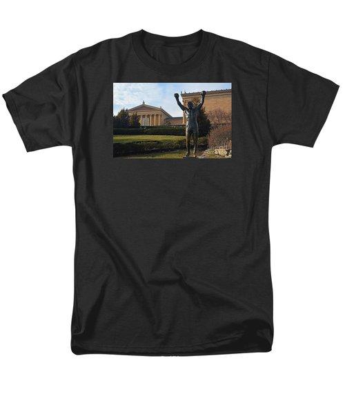 Philadelphia - Rocky  Men's T-Shirt  (Regular Fit) by Cindy Manero