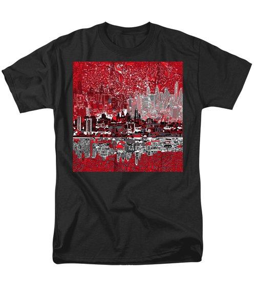 Philadelphia Skyline Abstract 4 Men's T-Shirt  (Regular Fit) by Bekim Art