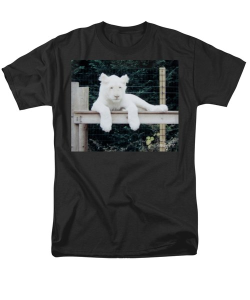 Men's T-Shirt  (Regular Fit) featuring the photograph Philadelphia Zoo White Lion by Donna Brown