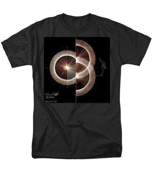 Photon Double Slit Test Hand Drawn Men's T-Shirt  (Regular Fit) by Jason Padgett