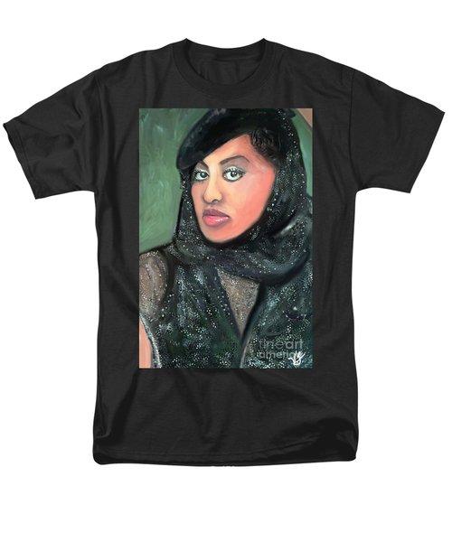 Men's T-Shirt  (Regular Fit) featuring the digital art Phyllis Hyman by Vannetta Ferguson