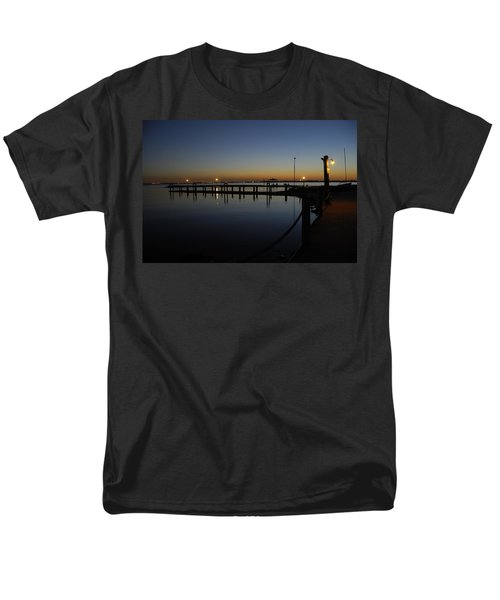 Pier At Chandlers Landing Rockwall Tx Men's T-Shirt  (Regular Fit) by Charles Beeler