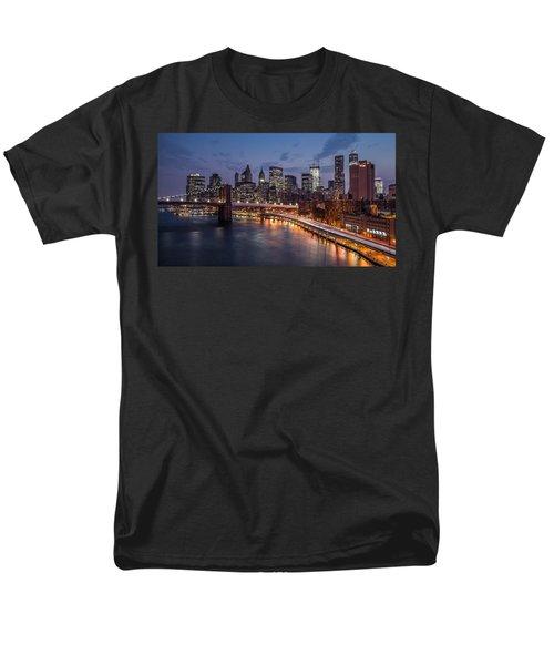 Men's T-Shirt  (Regular Fit) featuring the photograph Piercing Manhattan by Mihai Andritoiu